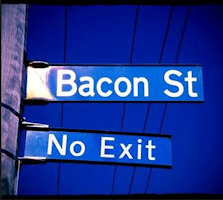 Bacon St. No Exit Sign